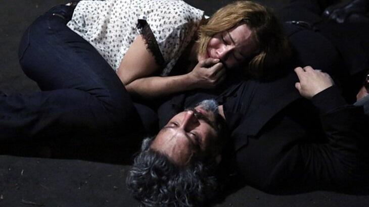 Cena de Império com José Alfredo caído e Maria Ísis no colo dele chorando