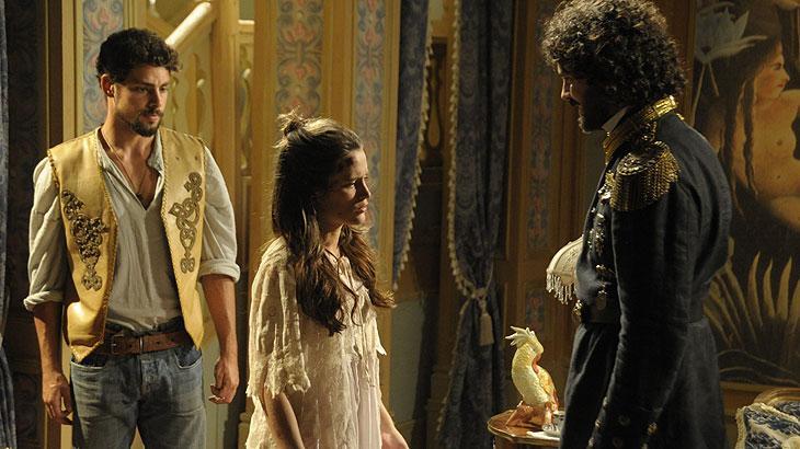 As lendas heroicas do sertão brasileiro misturadas aos encantamentos trazidos pela realeza europeia, são o ponto de partida para as histórias de amor entre Açucena e Jesuíno.