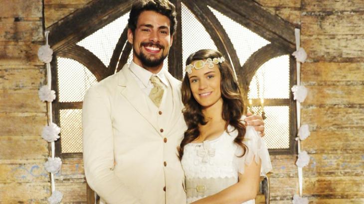 Cauã Reymond e Bianca BIn interpretam Jesuíno e Açucena - Foto: Reprodução: