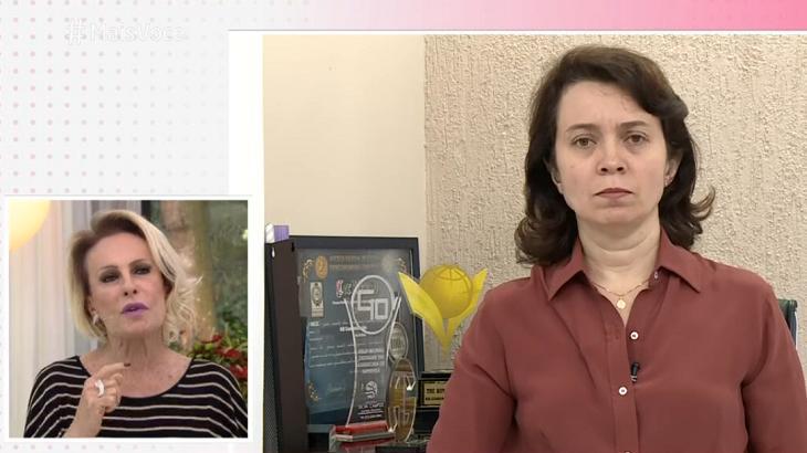 Ana Maria Braga conversou com pesquisadora - Foto: Reprodução/Globo