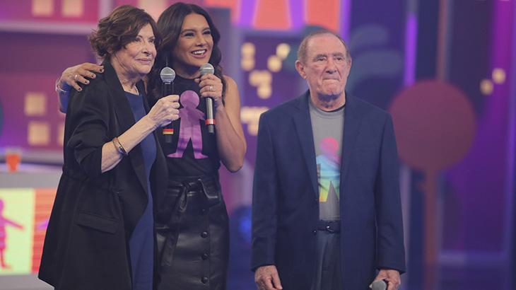 Professora Ausônia, Dira Paes e Renato Aragão - Fotos: TV Globo/Paulo Belote