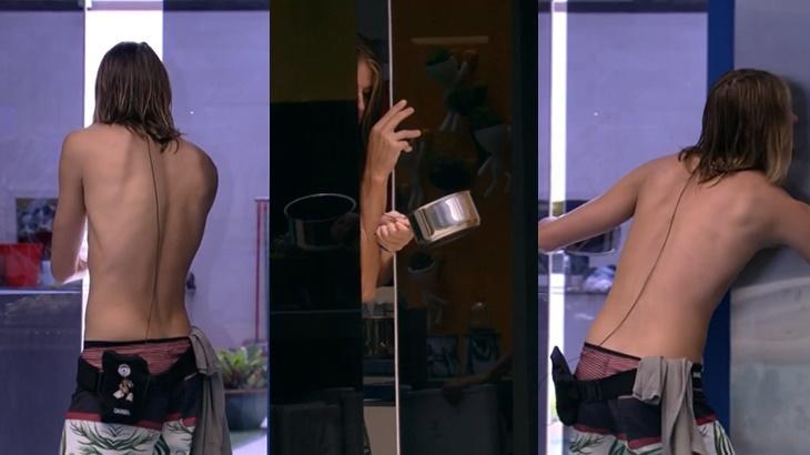 Daniel ficou preso na porta automática no BBB20 - Foto: Globo