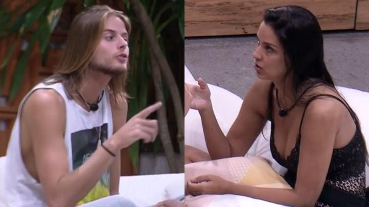Daniel e Ivy durante o reality show BBB20