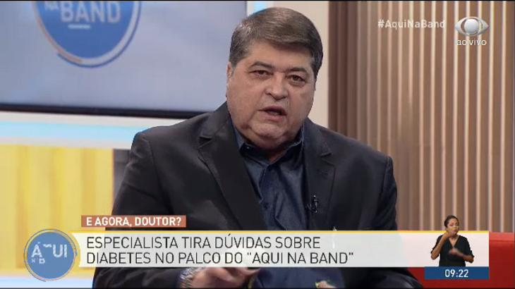 Datena fala sobre diabetes no