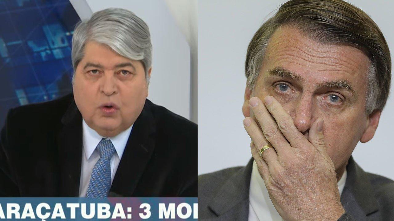 Datena irritado no Brasil Urgente; Jair Bolsonaro preocupado