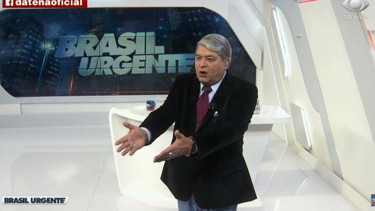 Datena durante o Brasil Urgente