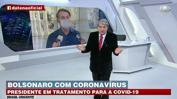 José Luiz Datena reprova fala do presidente Jair Bolsonaro