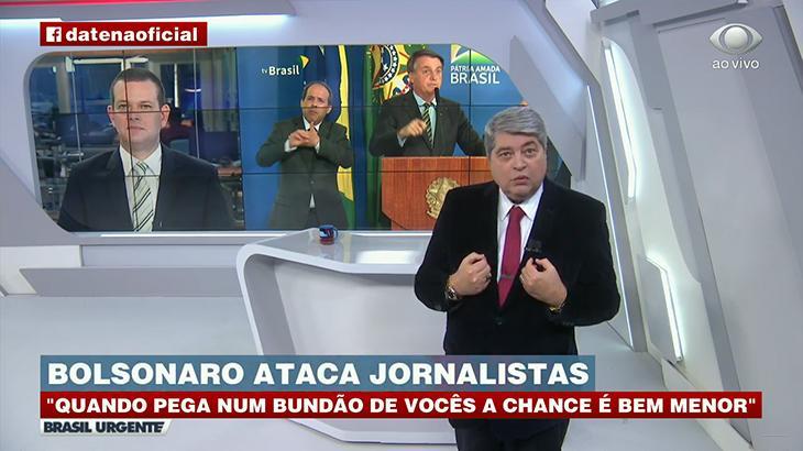 Datena se revolta contra Bolsonaro: