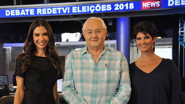 Amanda Klein, Boris Casoy e Mariana Godoy vão mediar debates da RedeTV!
