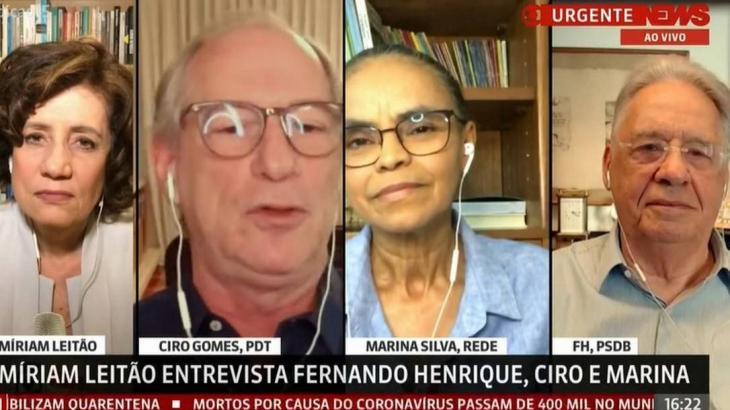 Miriam Leitão, Ciro Gomes, Marina Silva e FHC