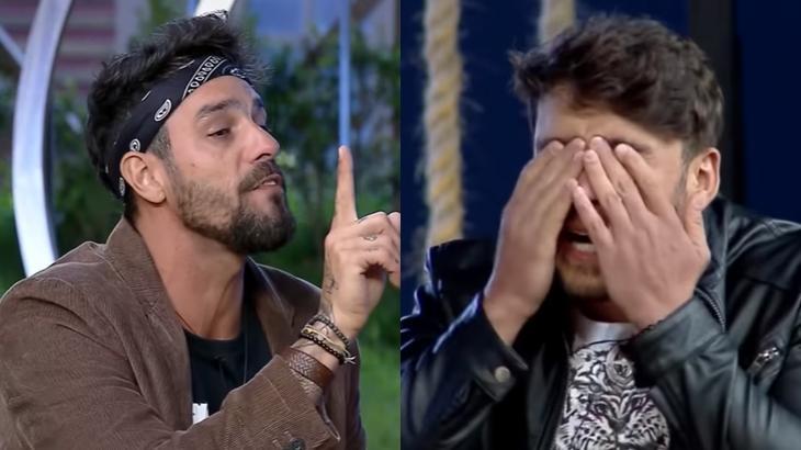 Diego Grossi e Lucas Viana durante o reality show A Fazenda 2019