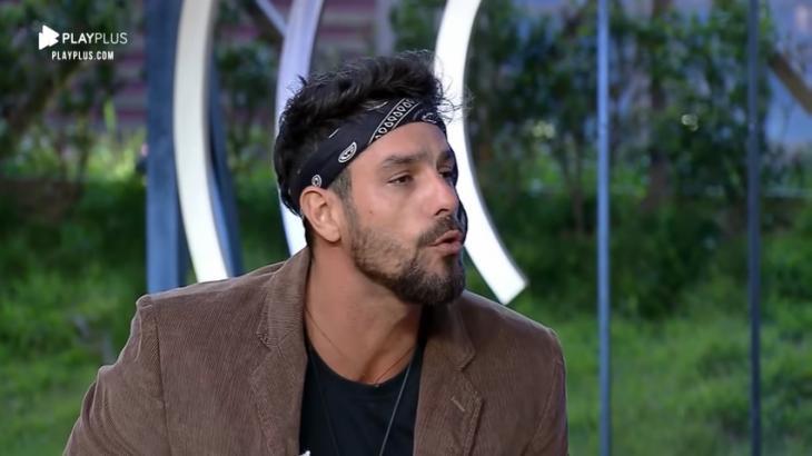 Diego Grossi durante o reality show A Fazenda 2019 (Reprodução)