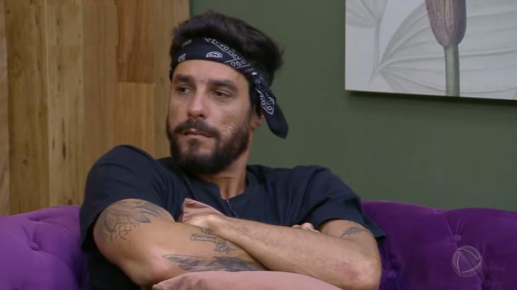Diego Grossi durante o reality show A Fazenda 2019