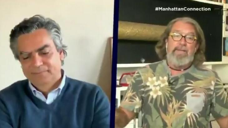 Diogo Mainardi e Kakay no Manhattan Connection da TV Cultura