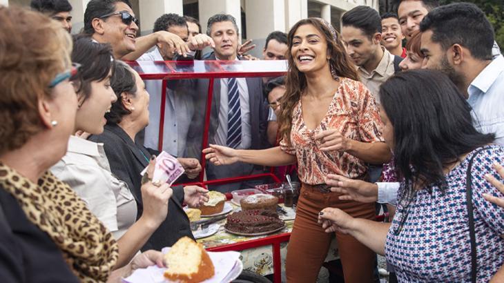 Juliana Paes e os bolos de Maria da Paz em cena - João Miguel Júnior/Globo