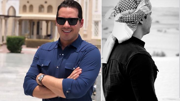 Dony De Nuccio passa férias nos Emirados Árabes Unidos