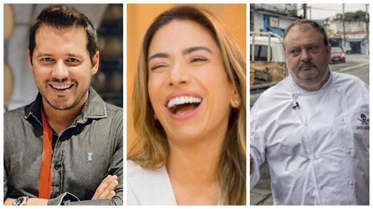 Dony de Nuccio, Patrícia Abravanel e Erick Jacquin