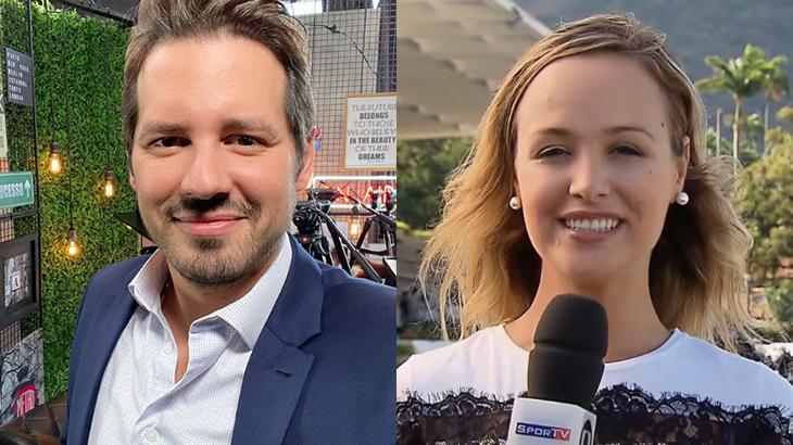 Dony De Nuccio e Bibiana Bolson discutiram no Instagram (Foto: Montagem/Reprodução/Instagram/donydenuccio/SporTV)