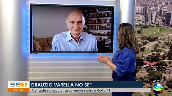 """Drauzio Varella diz ser um prazer falar com os """"amigos da Bahia"""" em jornal de Sergipe"""