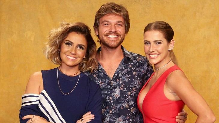 Giovanna Antonelli, Emilio Dantas e Deborah Secco divulgando Segundo Sol