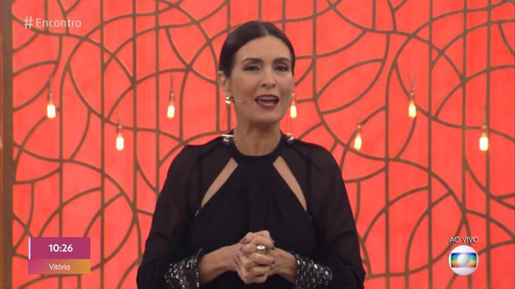 Fátima enviou uma mensagem para Ana Maria Braga - Foto: Reprodução/Globo