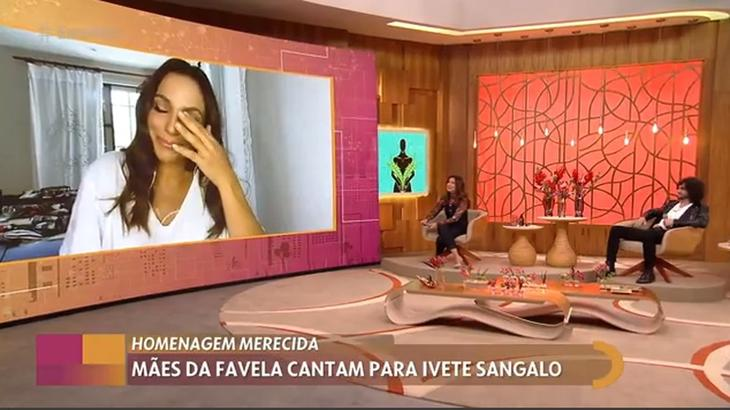 Ivete Sangalo chora no Encontro com Fátima Bernardes
