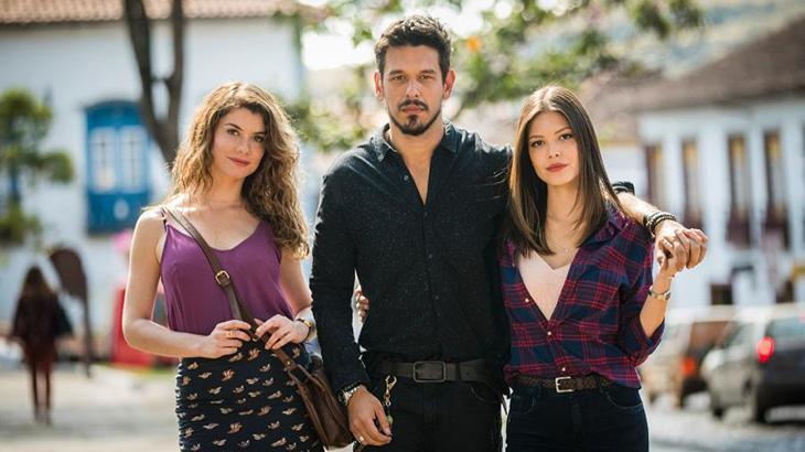 Alinne Moraes, João Vicente de Castro e Vitória Strada - Fotos: Divulgação/TV Globo