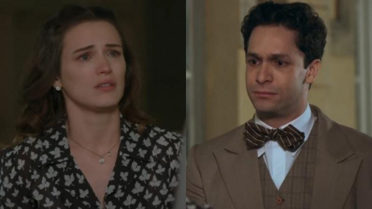 Em Êta Mundo Bom, Maria se sente enganada por Celso e rompe noivado - Fotos: Reprodução/Globo