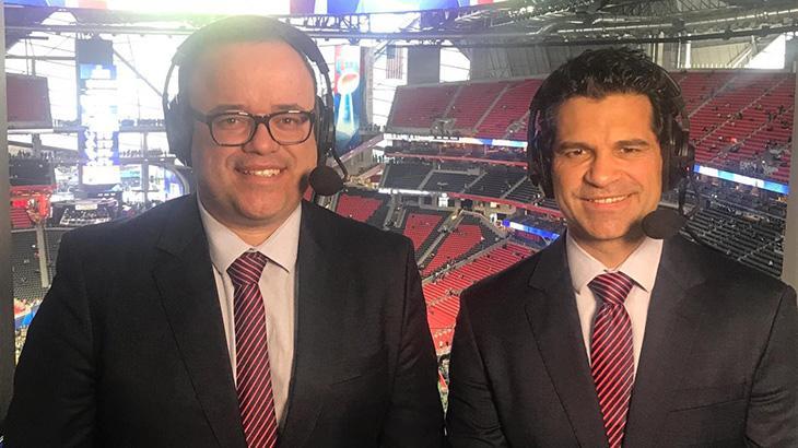 Everaldo Marques e Paulo Antunes comandaram a transmissão, diretamente de Atlanta, EUA