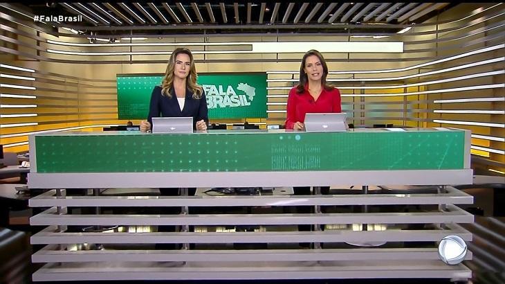 Cenário do Fala Brasil com nova tonalidade - Foto: Reprodução/Record
