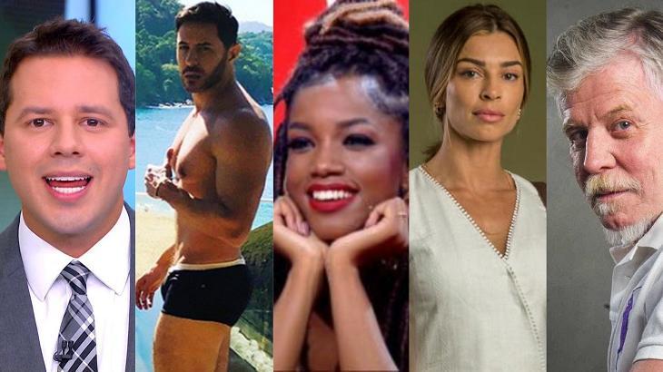 A semana dos famosos foi movimentada - Foto: Montagem