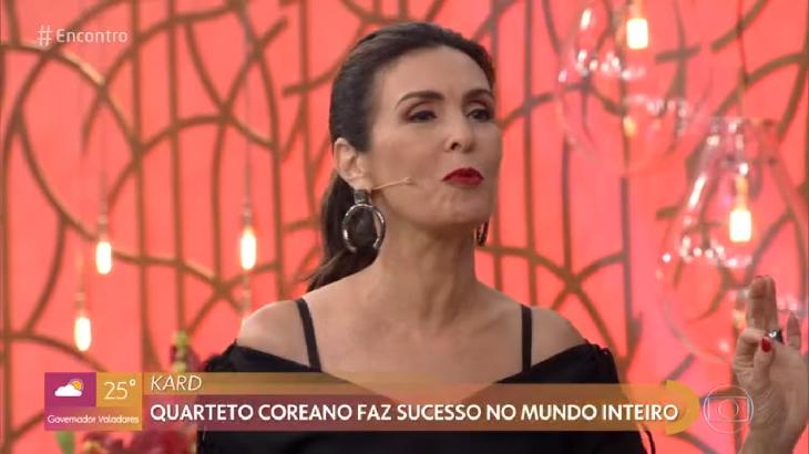 Fátima Bernardes no Encontro nesta quinta (10) - Foto: Reprodução/Globo