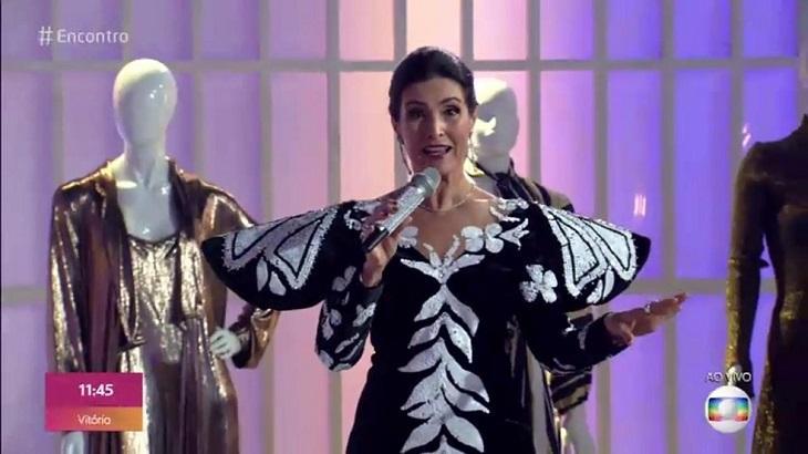 Fátima Bernardes homenageou Hebe - Foto: Reprodução/Globo