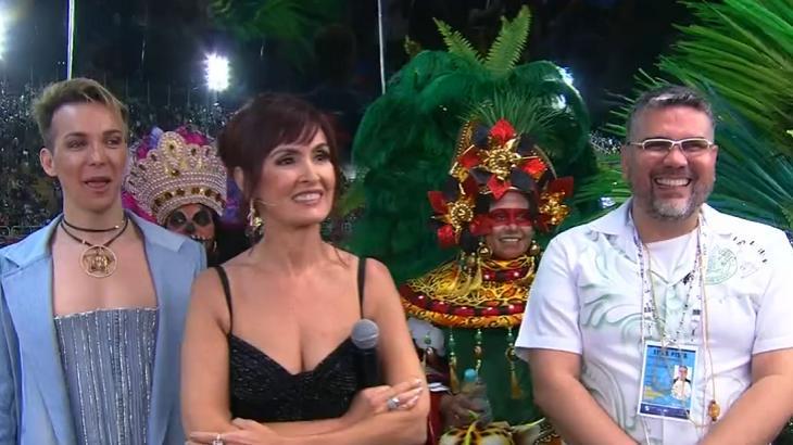 Fátima Bernardes na transmissão do Carnaval - Foto: Reprodução/Globo