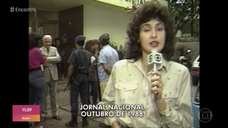 Fátima Bernardes como repórter do