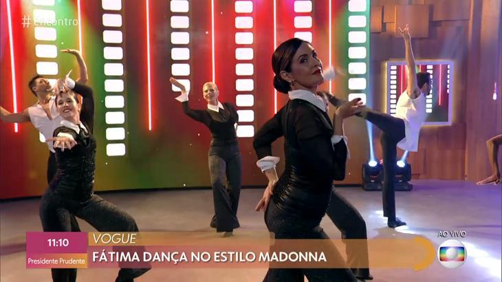 Fátima Bernardes dançou Madonna no Encontro - Foto: Reprodução/Globo