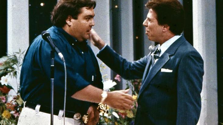 O que Faustão disse para Silvio Santos ao participar do Show de Calouros?