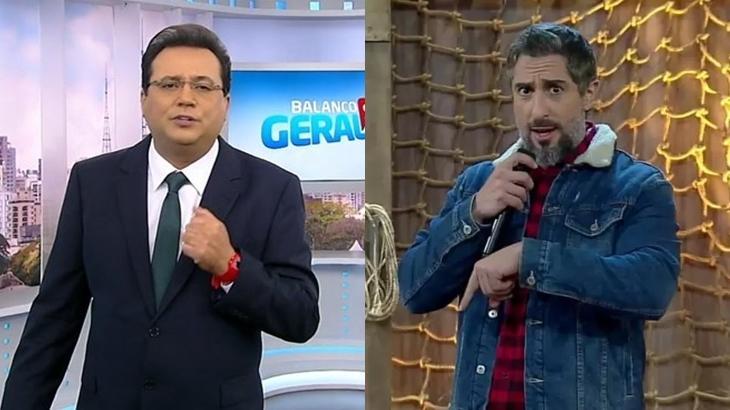 Geraldo Luís e Marcos Mion (Foto: Reprodução/RecordTV/Montagem)