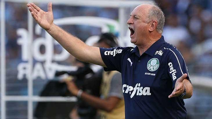 Luiz Felipe Scolari dirige o Palmeiras, dono dos jogos mais cobiçados no Campeonato Brasileiro