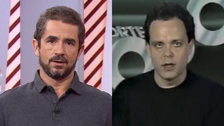 Felipe Andreoli e Fernando Vannucci no Globo Esporte
