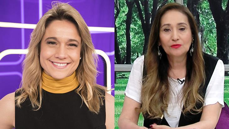 Fernanda Gentil foi confundida com Sonia Abrão durante o Se Joga. Foto: Montagem