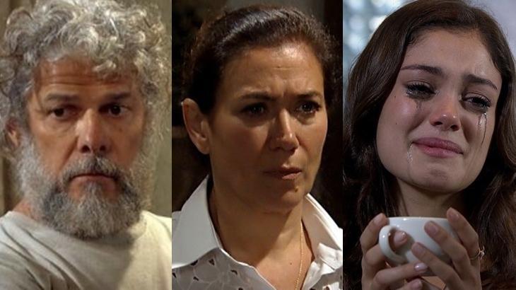 Pereirinha, Griselda e Amália em cena na novela Fina Estampa