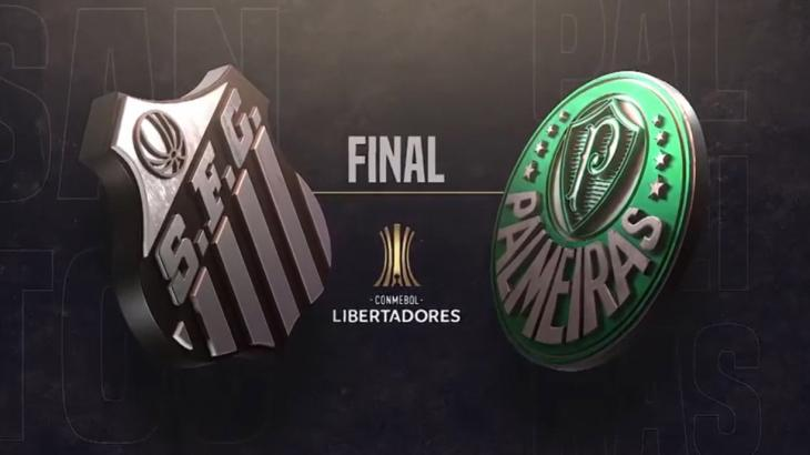 Santos e Palmeiras em chamada no SBT