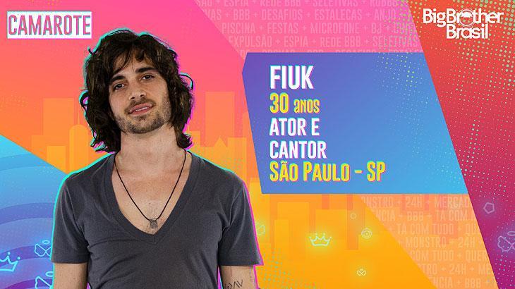 O ator e cantor Fiuk nasceu na cidade de São Paulo e tem 30 anos