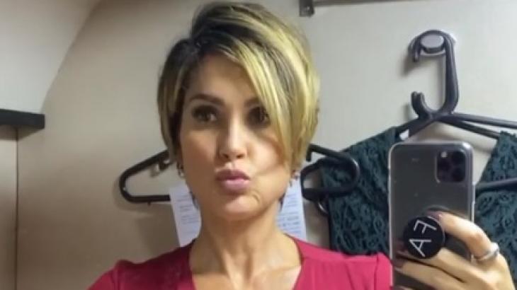 Flávia Alessandra sobre novo corte de cabelo:
