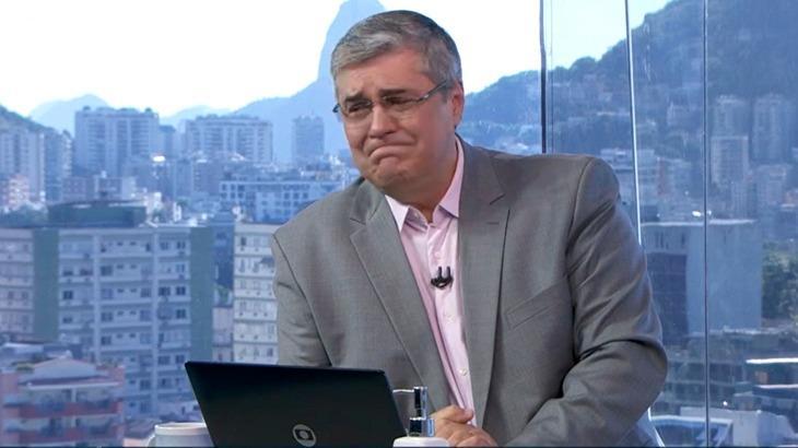 Flávio chorando no Bom dia RJ