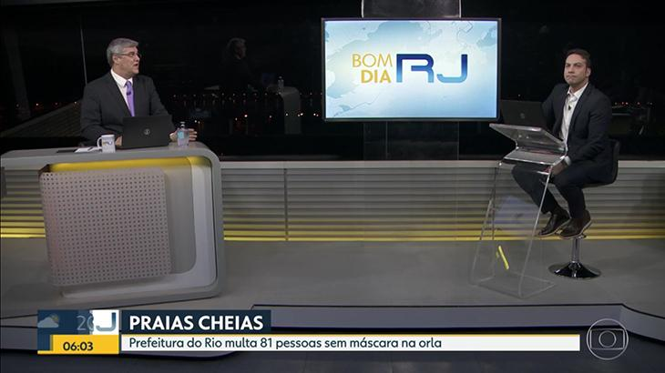 Flávio Fachel corrige fake news do Bom Dia RJ que viralizou nas redes sociais (Foto: Reprodução/TV Globo)