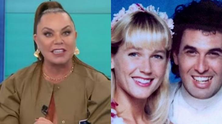 Montagem com as fotos de Flor no Fofocalizando e Xuxa com Sérgio Mallandro no filme Lua de Cristal