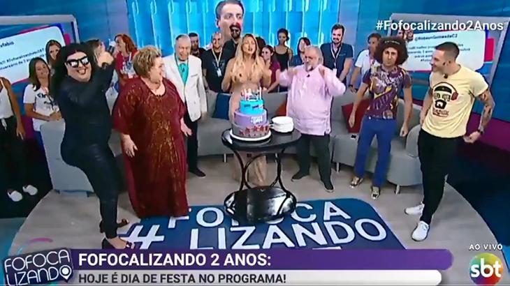 Equipe do Fofocalizando comemorando 2 anos
