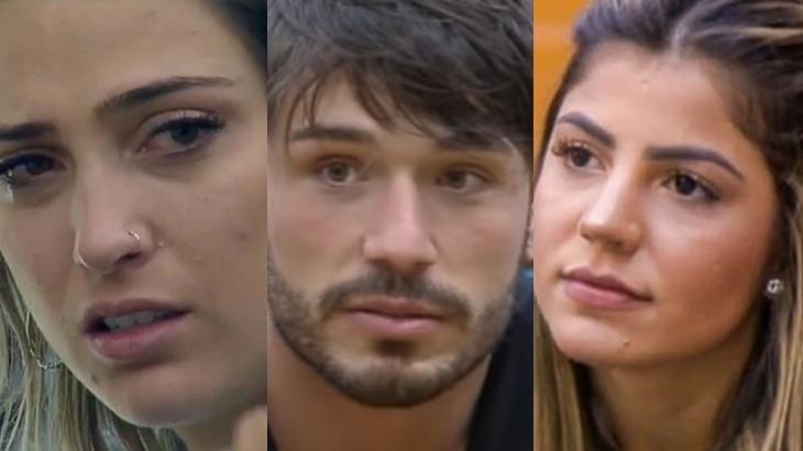 Tati Dias, Lucas Viana e Hariany Almeida no reality show